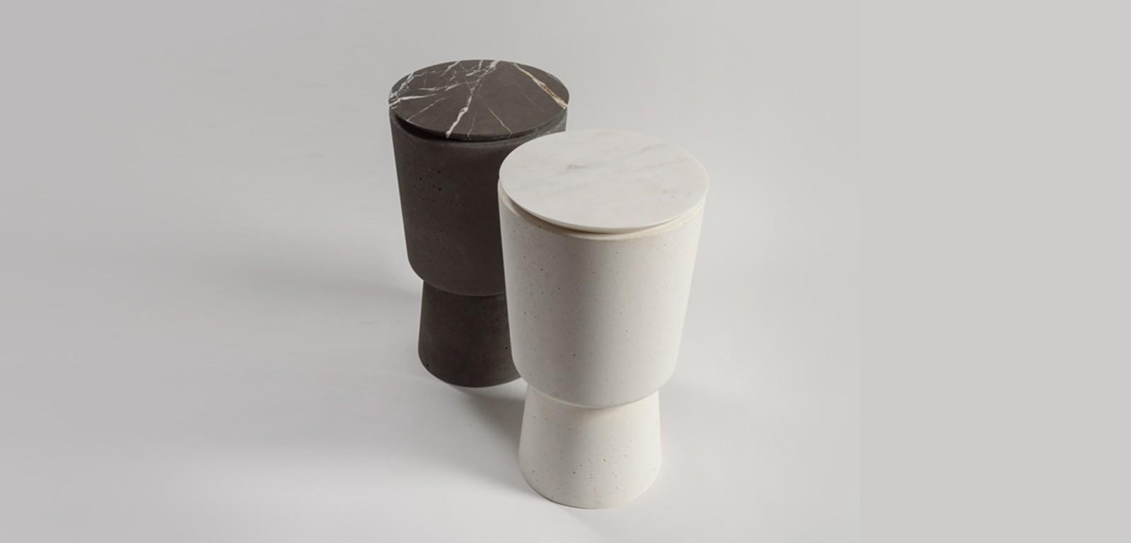 PLINTH-MARBLE-side-accent-tables-concrete-white-black-handmade-minimal
